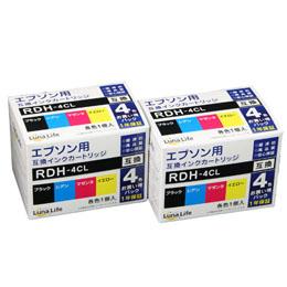 便利雑貨 エプソン用 RDH-4CL 互換インクカートリッジ 4本セット×2個パック