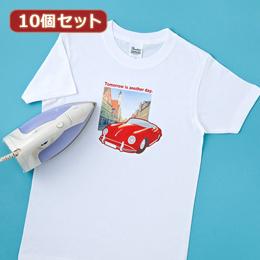 便利雑貨 10個セット インクジェット用アイロンプリント紙(白布用) JP-TPR7X10