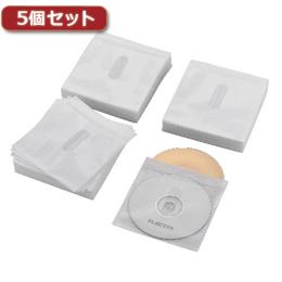 パソコン周辺機器関連 5個セット Blu-ray・CD・DVD対応不織布ケース タイトルカード CCD-NIWB240WH CCD-NIWB240WHX5