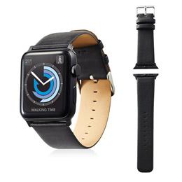 便利雑貨 Apple Watch 42mm/ソフトレザーバンド/フラットスクエアタイプ/ブラック AW-42BDLFSBK