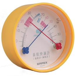 生活家電関連 温度湿度計 素肌快適計 TM-4714 マンダリンオレンジ
