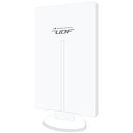 日用品 便利 ユニーク 日本アンテナ UDF85 屋外用薄型UHFアンテナ 強・中・電界向け 水平/垂直偏波用 F-PLUSTYLE(エフプラスタイル) ホワイト