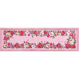 便利雑貨 フラワーリース キッチンマット ピンク C7145536 C8142039