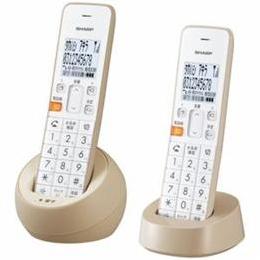 便利雑貨 JD-S08CW-C デジタルコードレス電話機 子機2台 ベージュ系