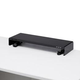 便利雑貨 サンワサプライ 電源タップ+USBポート付き机上ラック(W600×D200ブラック) MR-LC202BK