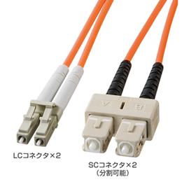 便利雑貨 サンワサプライ 光ファイバケーブル HKB-LCSC5-10L