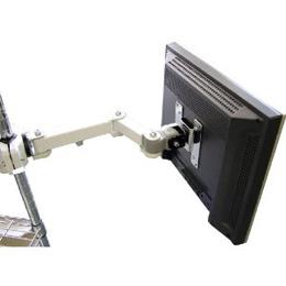 便利雑貨 サンコ- 4軸式クリップモニタア―ム(ホワイト) MARMGUS128W