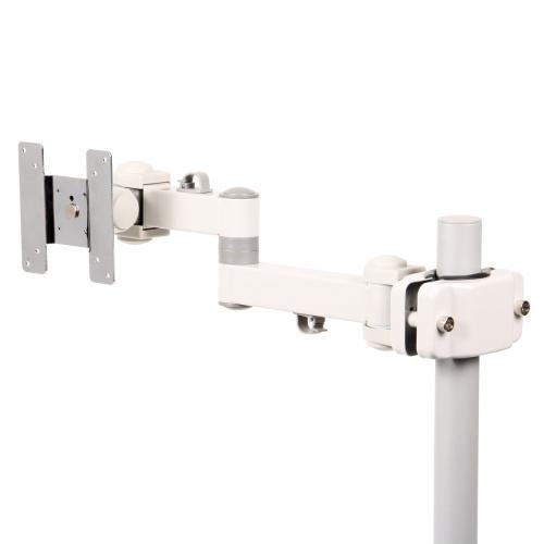 日用品 便利 ユニーク サンコー 4軸式クリップモニタアームSLIM(ホワイト) MARMGUS129AW