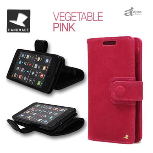 便利雑貨 AEJEX 高級羊革スマートフォン用ケース D4シリーズ PINK AS-AJD4-PK