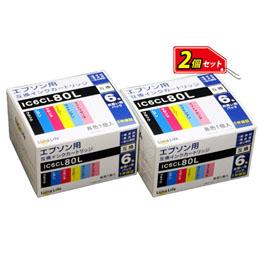 便利雑貨 ワールドビジネスサプライ 【Luna Life】 エプソン用 互換インクカートリッジ IC6CL80L 6本パック×2 お買得セット LN EP80/6P*2PCS