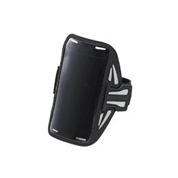 スマートフォン関連 スマートフォン用スポーツアームバンド(Lサイズ) P-ABC02BK