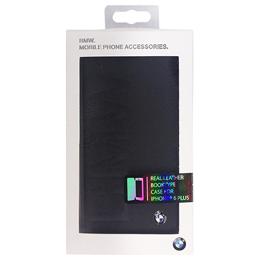 便利雑貨 BMW Booktype case BMW debossed logo- Black iPhone6 PLUS用 BMFLBKP6LLOB