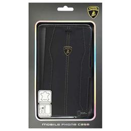 便利雑貨 ランボルギーニ Genuine Leather book case w/card holder 本革製手帳型ケース(カードホルダー付き) iPhone6 PLUS用 LB-SSHFCIP6L-HU/D1-BK