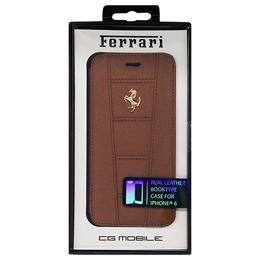 便利雑貨 フェラーリ 458 -Camel Leather Booktype Case iPhone6 用 FE458GFLBKP6CA