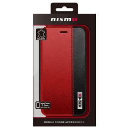 便利雑貨 NISMO BICOLOR LEATHER BOOK TYPE CASE iPhone6 PLUS用 NM-P55B3RD