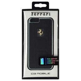 便利雑貨 フェラーリ 458 Black Leather Hard Case iPhone6 用 FE458GHCP6BL