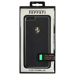 便利雑貨 フェラーリ 458 Black Leather Hard Case iPhone6 PLUS用 FE458GHCP6LBL