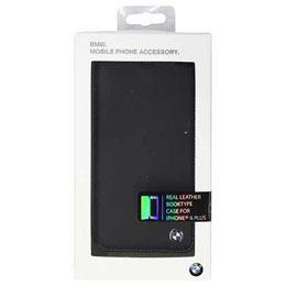 便利雑貨 BMW Booktype case Bicolor Black/Blue iPhone6 PLUS用 BMFLBKP6LCLB