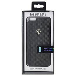 便利雑貨 フェラーリ GT Black Carbon Case Black Frame iPhone6 PLUS用 FECBGUHCP6LBL