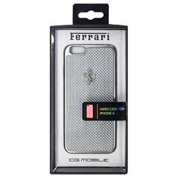 お役立ちグッズ フェラーリ GT White Carbon Case Silver Frame iPhone6 用 FECBSIHCP6WH