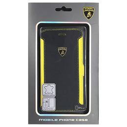 便利雑貨 ランボルギーニ Genuine Leather book case w/card holder iPhone6 用 LB-SSHFCIP6-HU/D5-YW