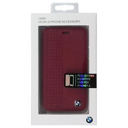 便利雑貨 BMW Booktype Case Perforated Red iPhone6 用 BMFLBKP6PER