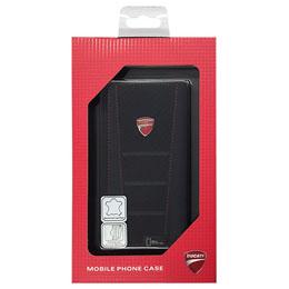 便利雑貨 ドゥカティ 本革製ウォレット型汎用ケース 汎用Mサイズ(iPhone6、Galaxy S6、 S6 edgeなど) DU-UWCM-SB/D1-BK