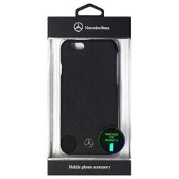 便利雑貨 メルセデス-Benz Pure Line 本革ハードケース (パンチング仕上げ) ブラック iPhone6 用 MEHCP6PEBK