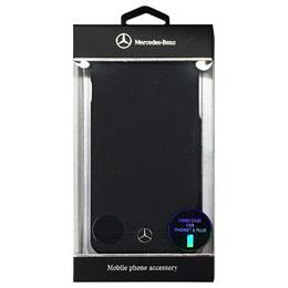 便利雑貨 メルセデス-Benz Pure Line 本革ハードケース(フロントグリル) ブラック iPhone6 PLUS用 MEHCP6LEMSBK