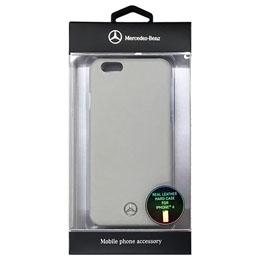 お役立ちグッズ メルセデス-Benz Pure Line 本革ハードケース(フロントグリル) グレー iPhone6 用 MEHCP6EMSGR
