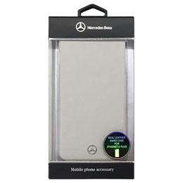 便利雑貨 メルセデス-Benz Pure Line 本革ハードケース(フロントグリル) グレー iPhone6 PLUS用 MEHCP6LEMSGR