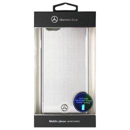 便利雑貨 メルセデス-Benz Pure Line アルミ製ハードケース シルバー iPhone6 PLUS用 MEHCP6LBRUAL