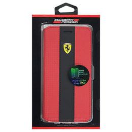 便利雑貨 フェラーリ RACING - Booktype Case - Red Trim - Red Carbon iPhone 6/6S Plus FENCFLBKP6LRE