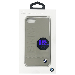 便利雑貨 BMW PC Hard Case - Logo Imprint - Genuine Leather - Taupe BMHCP7LLST