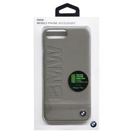 生活関連グッズ BMW iPhone7 Plus専用本革ハードケース PC Hard Case - Logo Imprint - Genuine Leather - Taupe BMHCP7LLLST