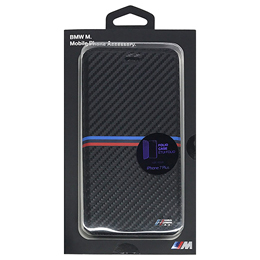 便利雑貨 BMW PC Booktype Case - Carbon Inspiration - PU Carbon - Tricolor Stripe Horizontal  BMFLBKP7LMSSCA