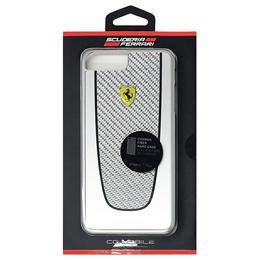 流行 生活 雑貨 フェラーリ PIT STOP - Hard Case - Black Trim - Silver Carbon design FEPICHCP7LSI