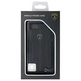 便利雑貨 ランボルギーニ Genuine leather back cover - Black LB-HCIP7-HU/D1-BK