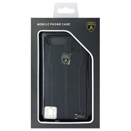 iPhone関連 ランボルギーニ Genuine leather back cover - Black LB-HCIP7P-HU/D1-BK