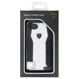 便利雑貨 ランボルギーニ Genuine leather back cover - White LB-HCIP7-HU/D1-WE