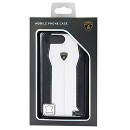 流行 生活 雑貨 ランボルギーニ Genuine leather back cover - White LB-HCIP7P-HU/D1-WE