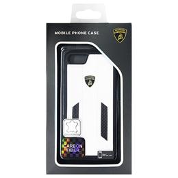 便利雑貨 ランボルギーニ Genuine leather w/carbon back cover - White LB-TPUPCIP7-HU/D6-WE