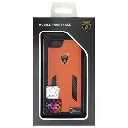生活関連グッズ ランボルギーニ Genuine leather w/carbon back cover - Orange LB-TPUPCIP7-HU/D6-OE