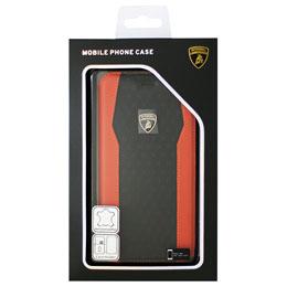 生活関連グッズ ランボルギーニ iPhone7 Plus専用本革手帳型ケース Genuine Leather S-Skin Flip Case - Orange LB-TPUFCIP7P-HU/D8-OE