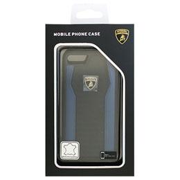 便利雑貨 ランボルギーニ iPhone7専用本革ハードケース Genuine Leather S-Skin Case - Blue LB-TPUPCIP7-HU/D8-BE
