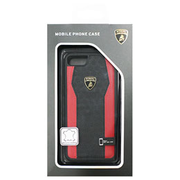 生活関連グッズ ランボルギーニ iPhone7専用本革ハードケース Genuine Leather S-Skin Case - Red LB-TPUPCIP7-HU/D8-RD