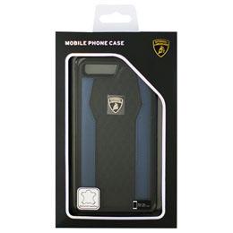 便利雑貨 ランボルギーニ iPhone7 Plus専用本革ハードケース Genuine Leather S-Skin Case - Blue LB-TPUPCIP7P-HU/D8-BE