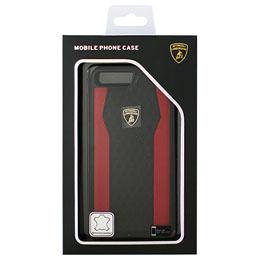 便利雑貨 ランボルギーニ iPhone7 Plus専用本革ハードケース Genuine Leather S-Skin Case - Red LB-TPUPCIP7P-HU/D8-RD
