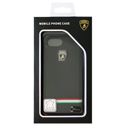生活関連グッズ ランボルギーニ iPhone7専用本革ハードケース Genuine Leather Ultra Slim Backcover - Black LB-HCIP7-TR/D8-BK