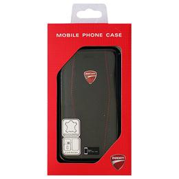 ドゥカティ iPhone7専用本革手帳型ケース Genuine Leather Flip Case - Black DU-TPUFCIP7-DI/D1-BK